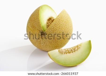 Honeydew melon, chopped - stock photo