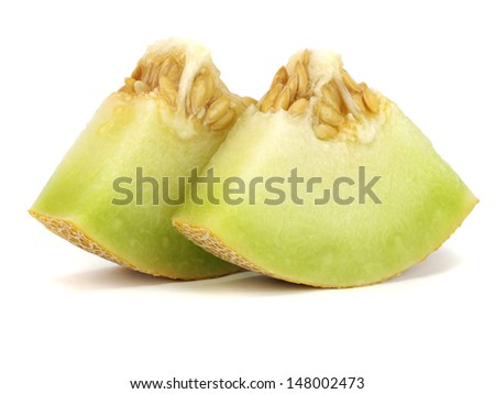 Honeydew melon on a white background    - stock photo