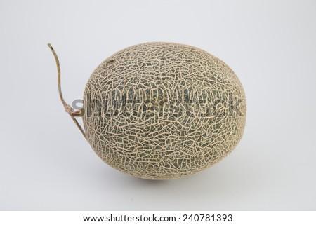 Honeydew Melon/Whole honeydew melon/A photo of a ripe honeydew melon on a white background - stock photo