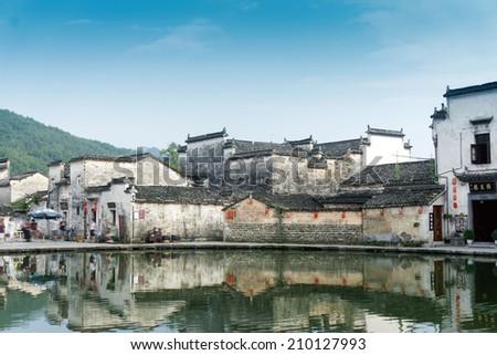 Hong cun, anhui, china - stock photo