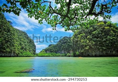 Hong island lagoon, Krabi Thailand - stock photo