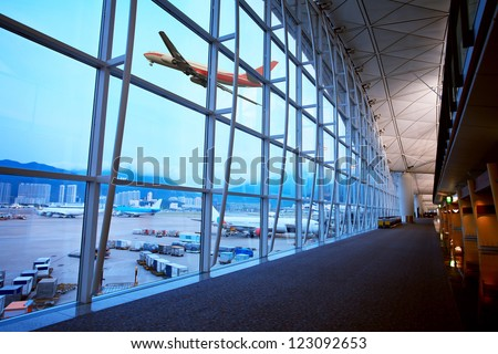 Hong Kong Airport - stock photo