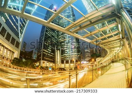 Hong Kong business district - stock photo