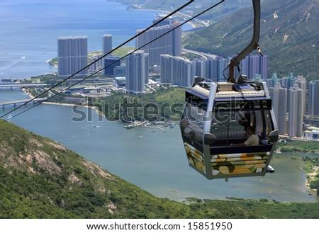 Hong Kong Cable Car - stock photo