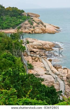 Hong Kong Cheung Chau Island - stock photo
