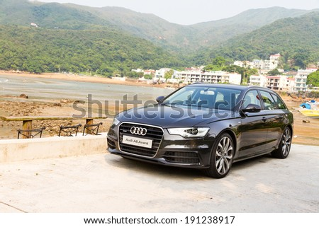 Hong Kong, China June 20, 2012 : Audi A6 Avant test drive on June 20 2012 in Hong Kong. - stock photo