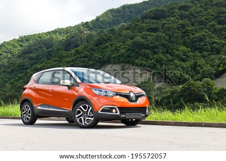 Hong Kong, China May 21, 2014 : Renault CAPTUR Test Drive on May 21 2014 in Hong Kong. - stock photo