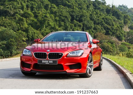 Hong Kong, China OCT 22, 2012 : BMW M6 Coupe test drive on OCT 22 2012 in Hong Kong. - stock photo