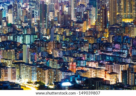 Hong Kong cityscape - stock photo