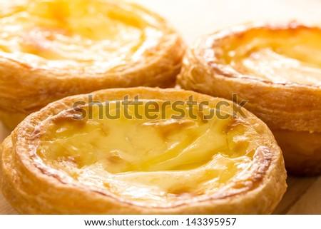 Hong Kong egg tart - stock photo