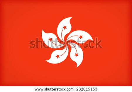 Hong Kong flag pattern ,vintage style - stock photo