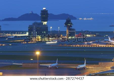 Hong Kong International Airport - stock photo