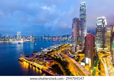 Hong Kong office building - stock photo