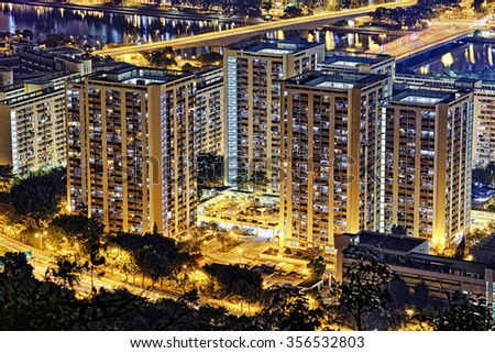 Hong Kong Sha Tin Night - stock photo