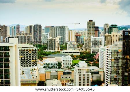 Honolulu Hawaii - stock photo