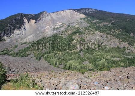 Hood River Mountains - stock photo
