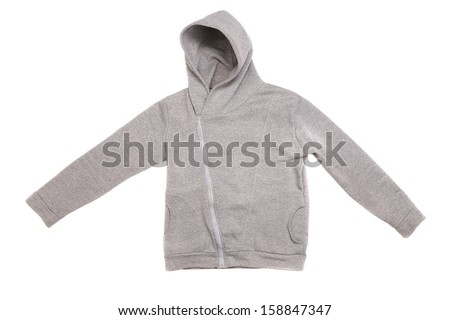 Hooded sweater isolated on a white background - stock photo