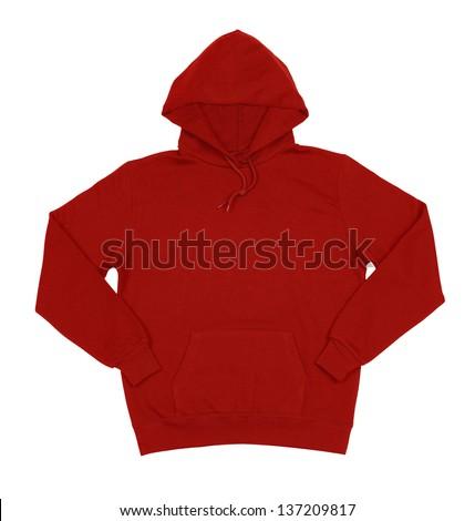Hooded sweater isolated on white background - stock photo
