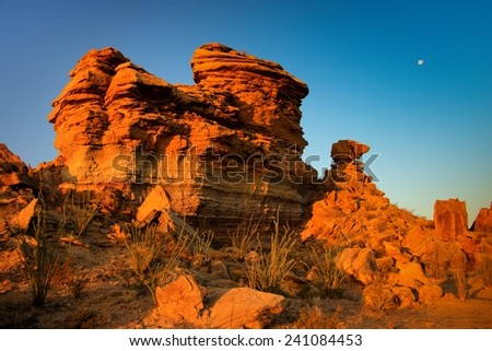 Hoodoos at Big Bend National Park in Texas - stock photo
