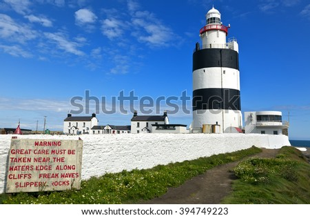 Hook Lighthouse at Hook Head, County Wexford, Ireland. - stock photo