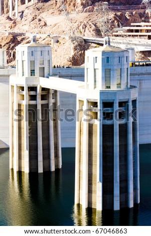 Hoover Dam, Arizona-Nevada, USA - stock photo