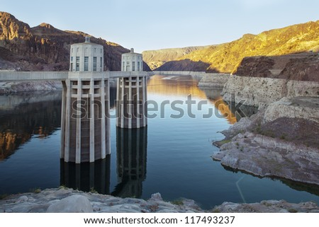 Hoover Dam Water Electricity Power Station USA - stock photo