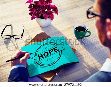 Hope Worship Prayer Spirituality Pray Concept - stock photo