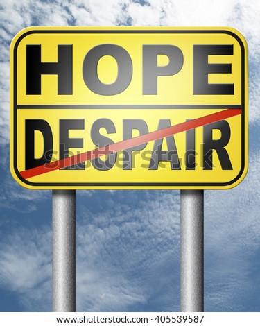 hopefull hopeless lost hope or despair losing faith or desperation - stock photo