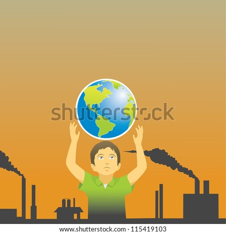 hoping a better world to live - stock photo