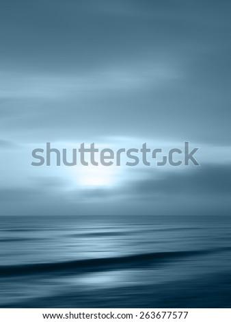 Horizon sea - water landscape background - stock photo