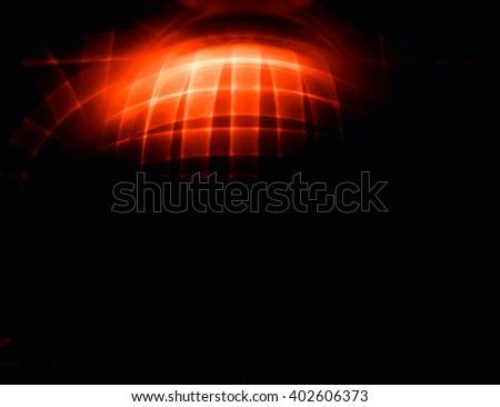 Horizontal 3d sphere abstract illustration background