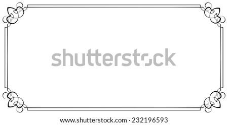 horizontal frame. Element for graphic design - stock photo