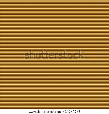Horizontal gold tube background texture seamlessly tileable - stock photo