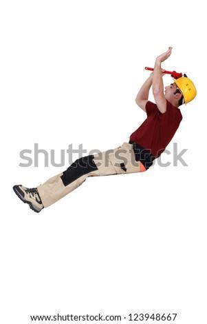 Horizontal image builder of builder balancing - stock photo