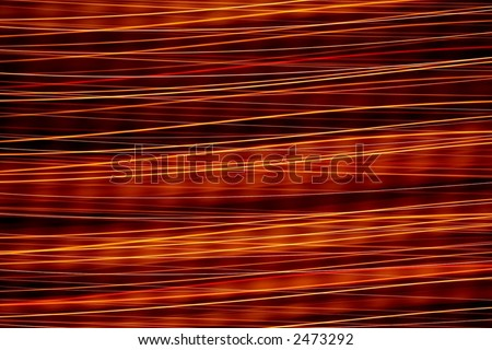 Horizontal lines of light in motion. - stock photo