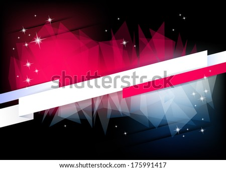 Horizontal music background with stars and place for text.  Raster version. - stock photo