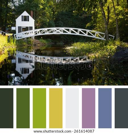 Horizontal palette template - stock photo