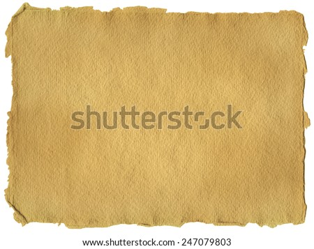 Horizontal parchment paper texture, isolated - stock photo