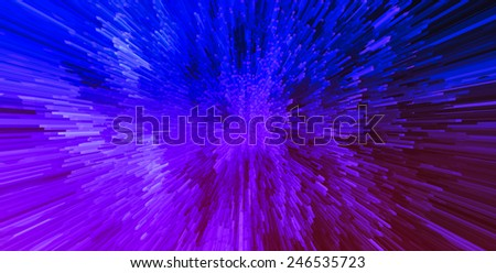 Horizontal vibrant pink purple 3d cube planet explosion digital background abstraction - stock photo