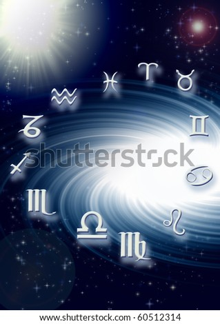 horoscope - stock photo