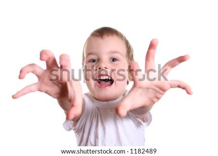 horror boy - stock photo
