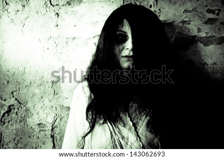 Horror scary woman  - stock photo
