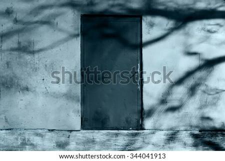 Horror Scene of the Mysterious Door - stock photo