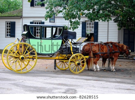 Horse Carriage in Virginia, USA - stock photo