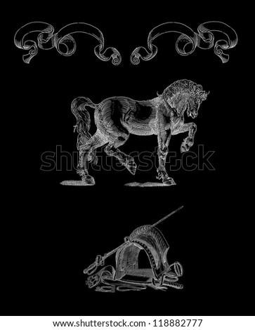 Horse illustration - stock photo