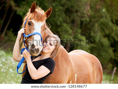 Horse Lover - stock photo