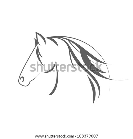 Horse symbol - stock photo