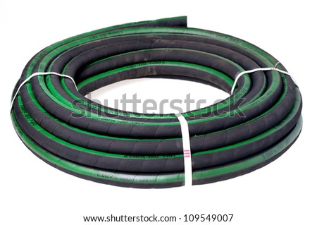Hose pipe isolated on white. - stock photo