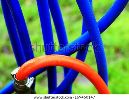 hose pipes - stock photo