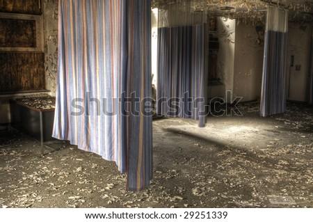 Hospital Curtains - stock photo